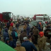 big croud & tractors
